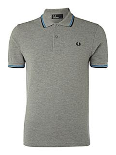Fred Perry Regular fit twin tipped polo shirt Grey Marl