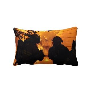 Firefighter Team Throw Pillow
