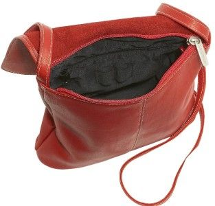 Ledonne T 784 Vaqueta Leather Crossbody Shoulder Bag
