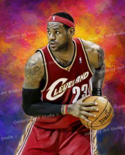 NBA Lebron James Cavalier Poster Oil Canvas Painting