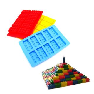 Colors Lego Style Bricks Chocolate Candy Mold Ice Cube Tray