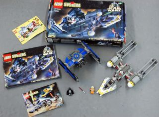 LEGO Star Wars 7150 TIE FIGHTER & Y WING   COMPLETE   Box MiniFigs