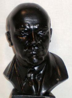 Russian Soviet Statue Lenin Bust Metal Figurine 1961