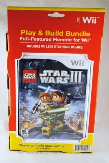 Lego Star Wars III 3 Wii Mote Controller Bundle for Nintendo Wii New