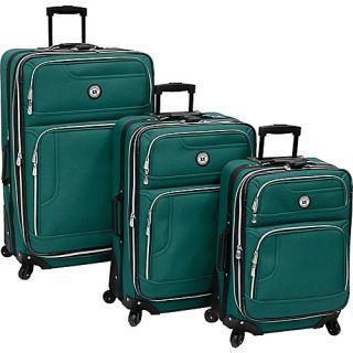 Leisure Luggage Rio 3 Piece Spinner Set Emerald