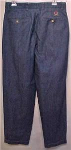 Tommy Hilfiger Pleat Front Cuff Leg Casual Jeans 32x31