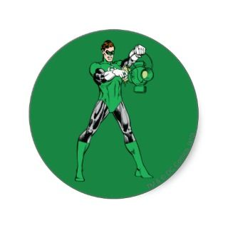 Green Lantern with Lantern Sticker