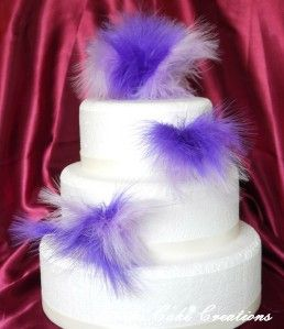 Just Feathers Cake Topper Set Wedding Birthday Anniversary Decoration
