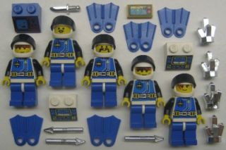 Lego Aquazone Minifigs Lot Underwater Scuba Aquanaut Man Aquashark