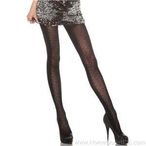 Tights Footed Animal Print Panythose Goth Gothic Punk Legwear