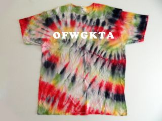 Dye TieDye T Shirt Odd Future Tee Lil B Swag White Lettering