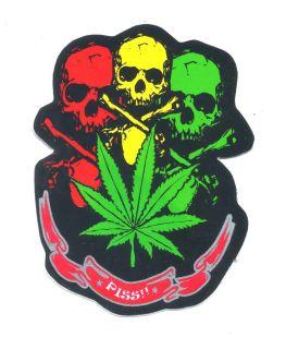 Skull Skeleton Dead Cannabis Rasta Motorcycle Car Van Truck Decals