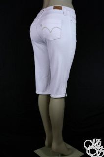 Levis Jeans 512 Skimmer Fits Everybody White Denim Womens Capris