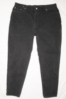Womens Levis 550 Relaxed Fit Tapered Leg Black Jeans Plus Size 22W M