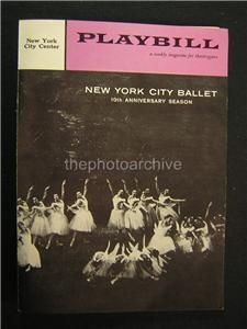 1958 Lotte Lenya New York City Ballet Autographed Signed Theatre