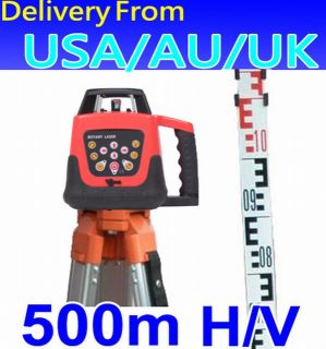 Self Leveling Rotary Rotating Laser Level Tripod Staff
