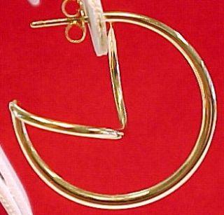 Ed Levin Designer 14k Yellow Gold Earrings Mint