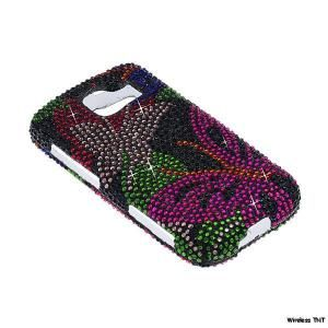 Rhinestone Bling Cover LG Optimus s Sprint LS670 113