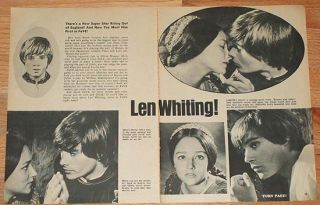 Leonard Len Whiting Mini Posters Pin Up clippings 1968 Romeo and