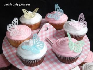 Edible Paper Butterflies x 50 Wedding Birthday Cupcakes