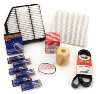 Lexus Is GS Tune Up Service Kit Air Cabin Oil Filters Spark Plugs Belt