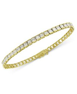 Bracelet, Square Channel Set Cubic Zirconia Bracelet (10 ct. t.w