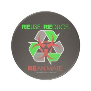 REUSE. REDUCE. REANIMATE. COASTERS