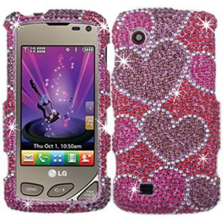 DIAMOND BLING CRYSTAL FACEPLATE CASE COVER LG CHOCOLATE TOUCH VX8575