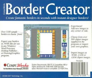 CD Create Custom Documents Frame Letter Sample Borders Clipart
