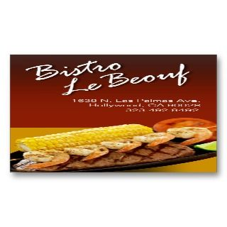 Catering Eateries Cuisine Business Card Templates