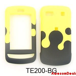 Cell Phone Cover Case for LG Xenon GR500 Milk Drop Yellow Black