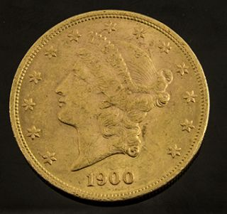 Up for auction is a 1900 Liberty Head Double Eagle $20 Gold Coin.