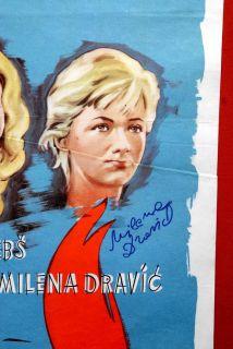 Leto Je Krivo ZA SVE Hand Signed by Milena Dravic 1961 1sh RARE EXYU