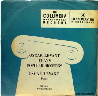 Oscar Levant Popular Moderns LP VG ml 2018 Vinyl Record