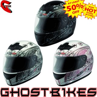 Ladies Lightweight motorbike Womens Motorcycle Crash Helmet