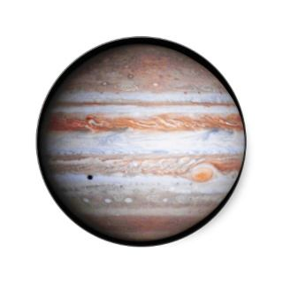 ENHANCED image of Jupiter Cassini flyby NASA Round Stickers
