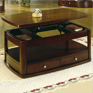 Homelegance Cherry Lift Top Rectangle Coffee Table [143614]