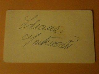 Liliane Montevecchi Actress Dancer Signed Cut Autograph