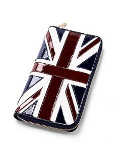 Aspinal of London Brit Travel Wallet & Passport Cover Set