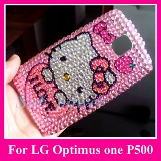 Hello Kitty Bling Hard Back Case Cover F LG One P500 IL