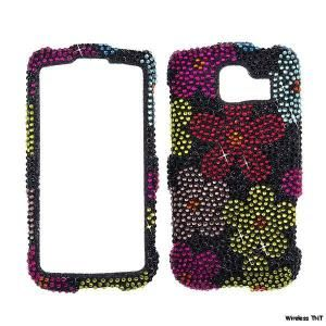 Rhinestone Bling Cover LG Optimus s Sprint LS670 129