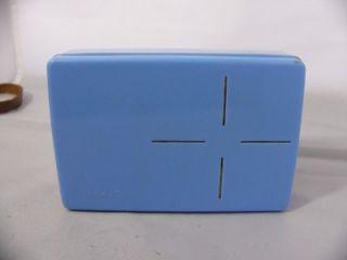 Parrot Sub Miniature TUBE KR 4S1 Transistor Size Radio   Light Blue