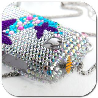 Bling Rhinestone Crystal Skin Case Cover LG Ally VS740