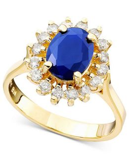 Royalty Inspired by Effy Collection 14k Gold Ring, Sapphire (1 9/10 ct
