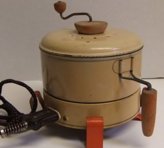 Vintage Electric Stir Top Popcorn Popper U s Mfg Co Model 85 Works See