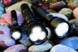 Life Gear LG530 Highland Tactical LED Flashlight with Red Tail