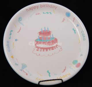 Lillian Vernon Celebration Happy Birthday Cake Platter