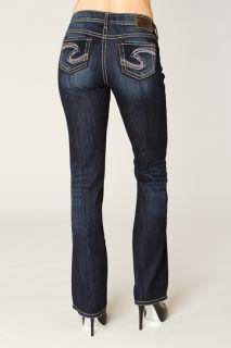 Silver 28 x 35 Natsuki Indigo Boot Cut High Rise Curvy Fit Jeans New