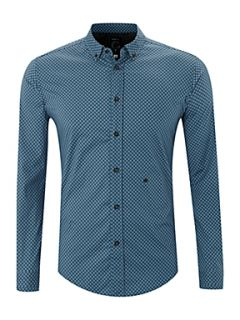 Diesel Long sleeve diamond print shirt Blue