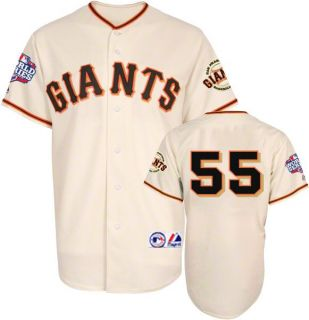 Tim Lincecum 2012 San Francisco Giants World Series Home Jersey Sz M